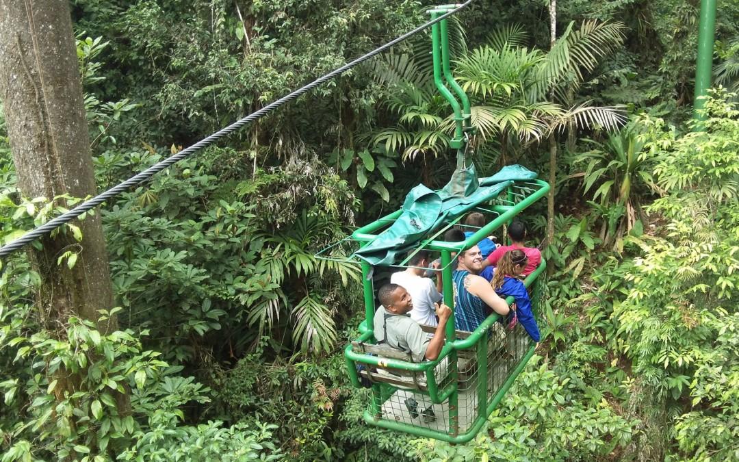 Aerial tram in Braulio Carillo National Park