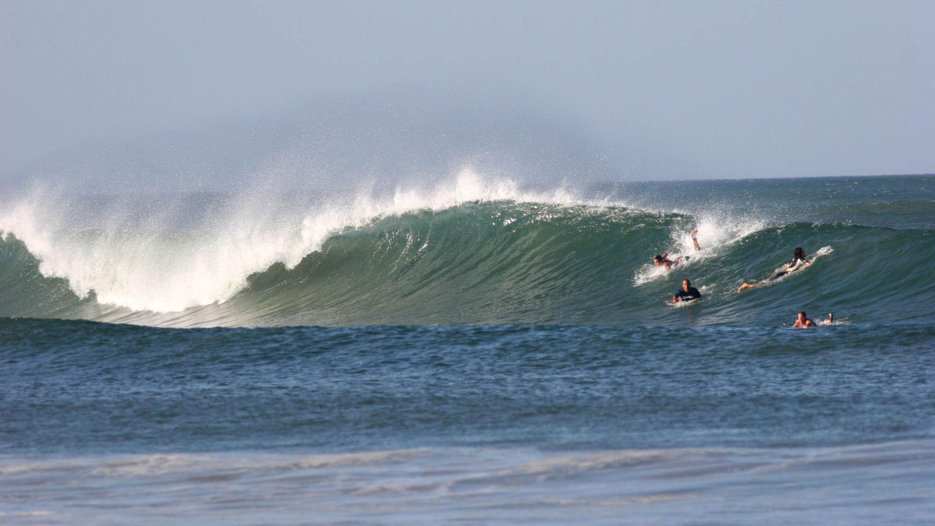 Surfing at Esterillos Beach